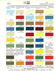 1973 FORD BRONCO ECONOLINE PICKUP HEAVY TRUCK  AMC JEEP PAINT CHIPS SHEET PPG