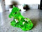 Fenton Glass Key Lime green Handpainted Floral Horse