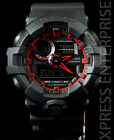 NEW WITH TAGS Casio Gshock X-Large Case Ana-Digi GA700SE-1A4 BLACK RED Watch