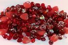 Fabulous Red Plus Glass Czech Lampwork  More Beads Mixed Shapes  Sizes