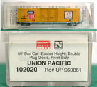 Union Pacific UP 960861 60ft Excess Height Box Car MTL 102020 N JY1925