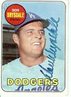Don Drysdale Signed Autographed Baseball Card 1969 Topps Dodgers GV294071