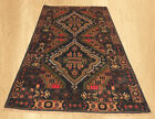 Authentic Hand Knotted Vintage Zakani Balouch Wool Area Rug 6 x 4 FT (5043)