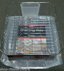 RUBBERMAID CHROME DISH DRAINER RACK W SLOPED CLEAR KENNEDY TRAY FRONT END DRAIN