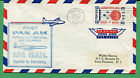 Air Mail Cover 1959 First Pan Am Jet Clipper Seattle to Honolulu S8237
