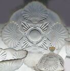 Mosser Glass CRYSTAL OPAL PLATTER CAKE PLATE Made in OHIO USA RARE Kitchenware