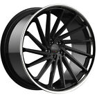 22x95 Black Chrome Giovanna Spira FF Wheels 5x112 +30 Fits Audi A8 Quattro