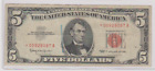 ***STAR NOTE*** SERIES 1963 US NOTE  $5 BILL ~~TOUGH DATE~~F-VF