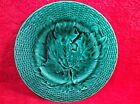 Antique French Majolica Monochrome Leaf Plate 1800's, fm731 ANTIQUE GIFT IDEA!!