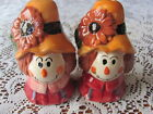 Cute Scarecrow Head Salt And Pepper Shakers