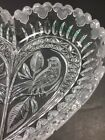 Heart Shaped Candy Dish Clear Glass Crystal Bird Mickey Mouse Ear Etched Frosted
