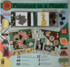 Finished in Flash Wild Things Scrapbook Kit 12 x 12 Paper Brads Ribbons HOTP