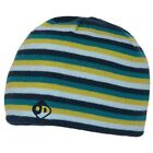 Outdoor Designs Knitted Stripe Beanie Hat w/Fleece 100 Headband - Reef Color