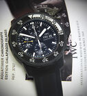 IWC Aquatimer Galapagos Steel Black Rubber Clad Mens Watch Box/Papers 3767