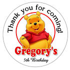 20 WINNIE THE POOH BIRTHDAY PARTY FAVORS STICKERS LOLLIPOP LABELS 2 INCHES EA