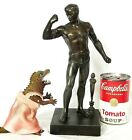 Patinated Metal Statue Semi Nude Man in Chains Grand Tour Gay Interest