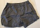 HANRO MENS COTTON Fancy Woven Black Check UNDERWEAR NWT 4013 S Boxer Short