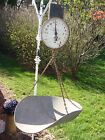 100+ YEAR OLD ANTIQUE HANGING PRODUCE SCALE FROM NEW YORK CITY 1912 FARMHOUSE