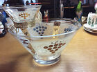 Golden Grapes Chip And Dip Complete 3 Pc Set Vintage Mid Century Anchor Hocking
