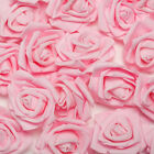 50 100Pcs Foam Fake Roses Artificial Flower Wedding Bride Home Party Decor US
