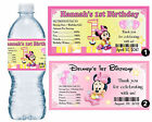 20 BABY MINNIE MOUSE 1ST BIRTHDAY WATER BOTTLE LABELS