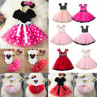 Kinder Mädchen Baby Minnie Maus Kleid Tutu Tüll Prinzessin Party Cosplay Kostüm