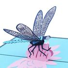 3D Pop Up Greeting Card Dragonfly Handmade Birthday Christmas Wedding Invitation