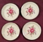 Set of 4 Spode Classic Rose English Bone China Coasters or Butter Pats Excellent