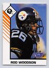 1993  ROD WOODSON - Kenner Starting Lineup Card - PITTSBURGH STEELERS - (WHITE)
