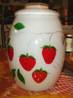 VTG BARTLETT COLLINS STRAWBERRY COOKIE BISCUIT JAR CREAMER SUGAR FLORAL VASE LOT