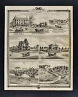 1875 Iowa Atlas Print - Appanoose County Views - Farm Moore House Victorian IA