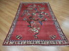 Ca1930VEGDY ANTIQUE PERSIAN  GHOM TREE OF LIFE HUNTING 3.8x5.9 ESTATE SALE  RUG