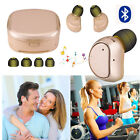 Women Men Buletooth Headset Double In-Ear Earbud With Charging Case For  LG K10