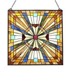 Stained Glass Tiffany Style Window Panel Victorian Mission Design 24