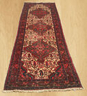 Authentic Hand Knotted Vintage Persian Bijar Wool Area Runner 8 x 3 FT