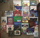 25 Christmas Countdown Advent Books Lot Nativity HC Classics Nutcracker Peanuts