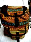 New  COTTON  NEPAL BACPACK Handmade Hippie Boho Multi-color Lined Brown Backpack