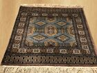 Authentic Hand Knotted Jaldar Pak Jhaldar Wool Area Rug 2 x 2 FT (4914)