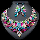 Fashion Indian Rhinestone Bridal Wedding Jewelry Sets Necklace and Earrings 62