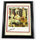 Dom DiMaggio Signed Print The Rookie Norman Rockwell Matted Framed Auto DF026128