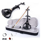 4 4 Electric Silent Violin Case Bow Rosin Battery Headphone Connecting LineV 013