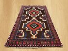 Authentic Hand Knotted Afghan Balouch Wool Area Rug 4.8 x 2.5 FT (5407)