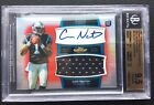 # 10 Cam Newton BGS 9.5 GEM 2011 Topps Finest Red Refractor Auto Patch RC