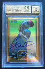 Cam Newton BGS 9.5 GEM 2011 Bowman Chrome Topps Preview Gold Refractor Auto RC