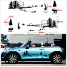 Set Black Hunt Forest Reindeer Badge Car Exterior Decoration Vinyl Decal Sticker