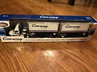 Con Way Freight Die cast 164 Freightliner Cascadia Tractor With Pup Trailers
