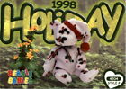 1999 (Trading Card) Beanie Babies Series IV #160 98 Holiday Teddy (Rare)