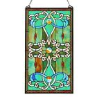 Marquee Cabochons Tiffany Style Window Panel  15 x 26