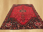 Hand Knotted Vintage Persian Pictorial Sharaze Wool Area Rug 10 x 7 Ft