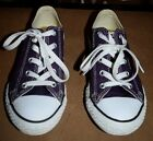 Converse All Star Sneakers Kids Sz 2Y Purple Good Condition